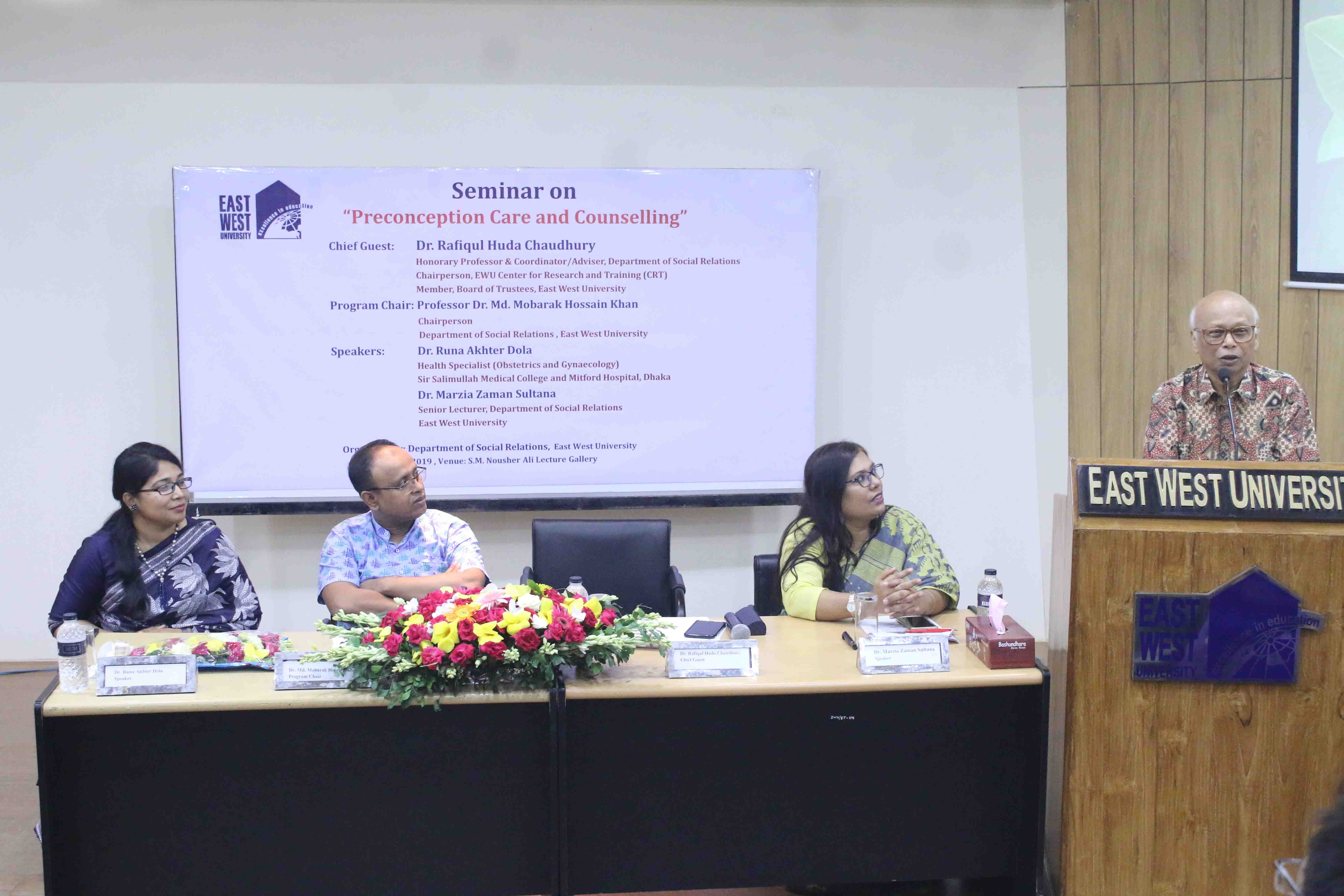 Seminar on Preconception Care and Counselling
