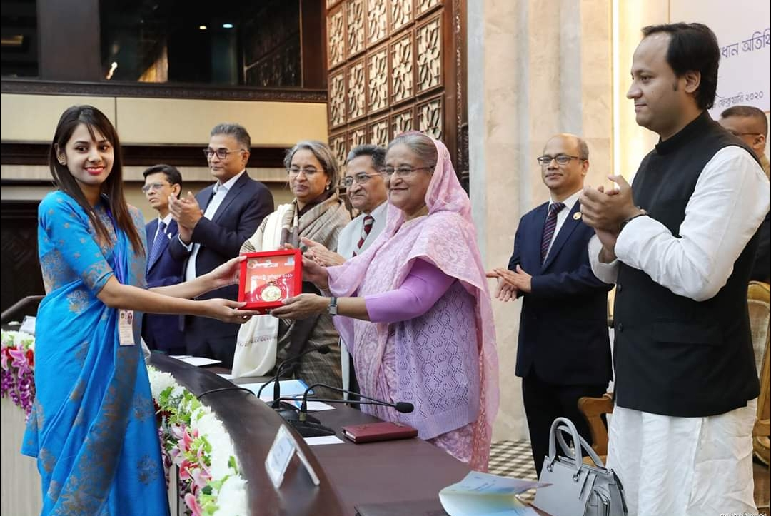 Masiath Mubassira received 'Prime Minister Gold Medal 2018'
