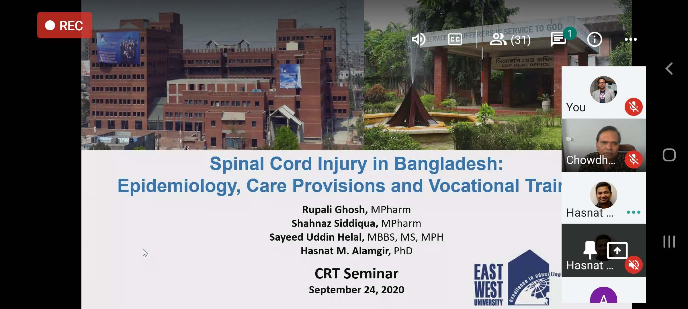 EWUCRT Organised a Research Proposal Seminar