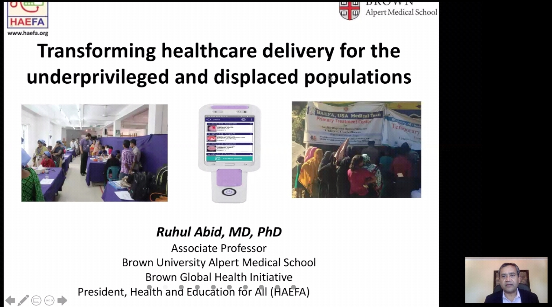 Nobel Nominated Dr. Ruhul Abid Urge to Equity in Access to Health Service in EWU Webinar