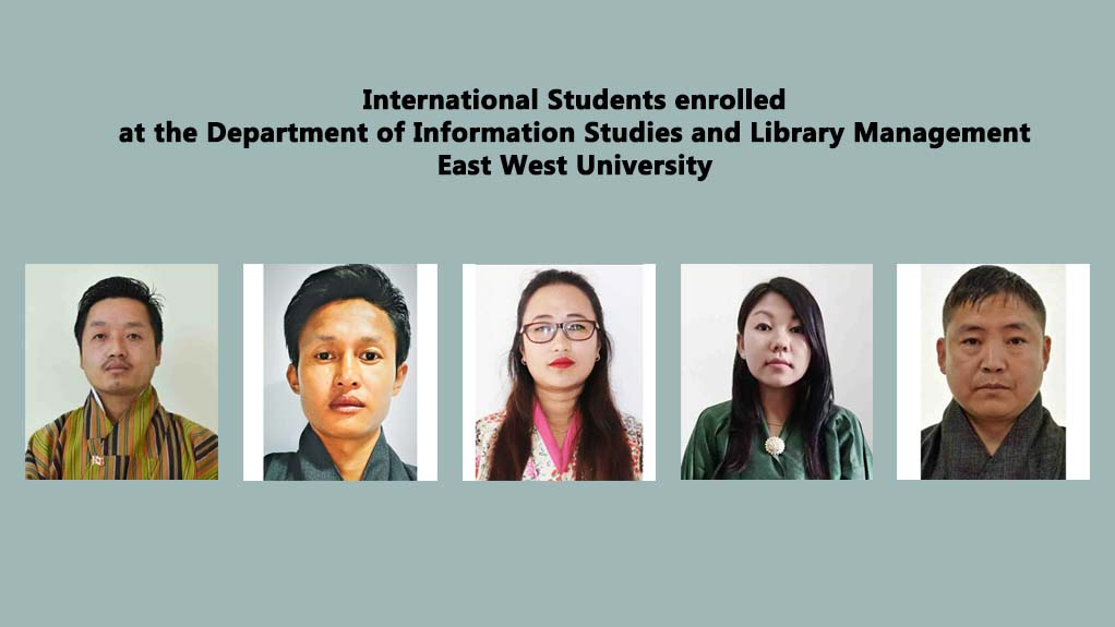 International Students enrolled at the Department...