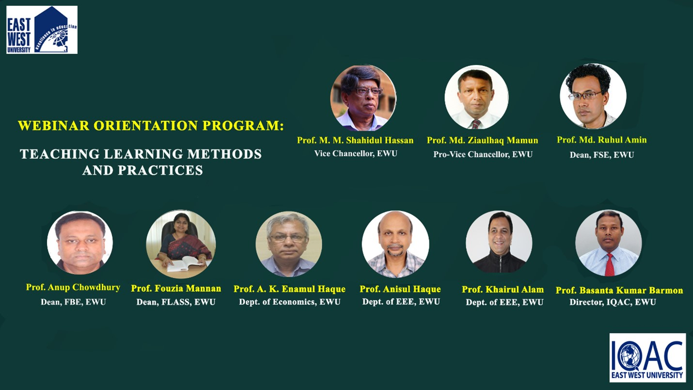 """Webinar Orientation Program on """"Teaching Learning Methods and Practices"""" on 19-20 March 2021"""