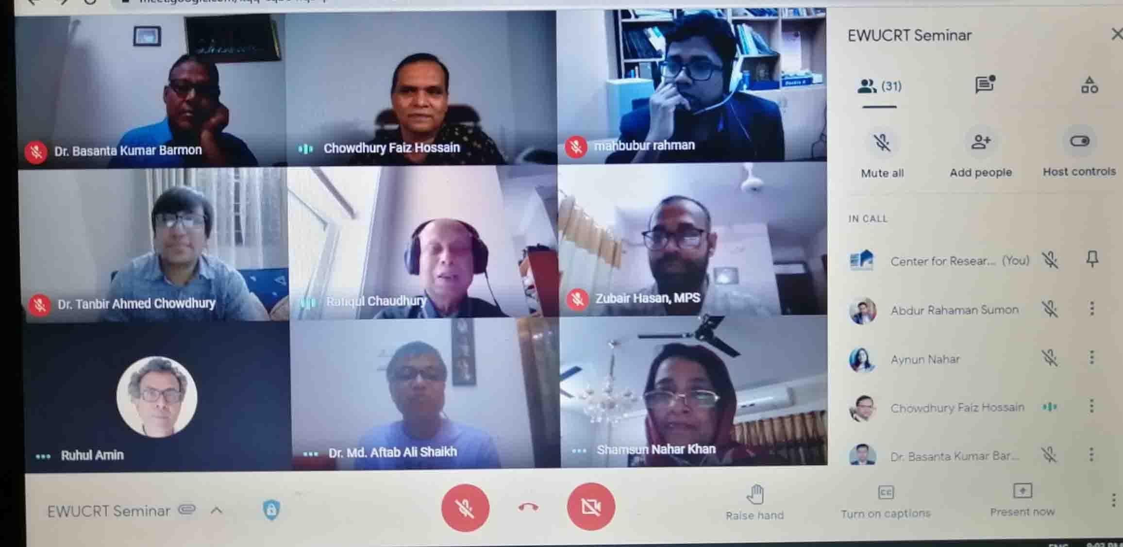 EWU-CRT Arranges a Research Seminar