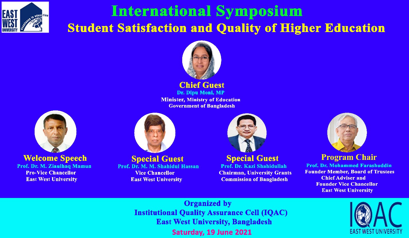 """International Symposium on """"Student Satisfaction and Quality of Higher Education"""" on 19 June 2021"""