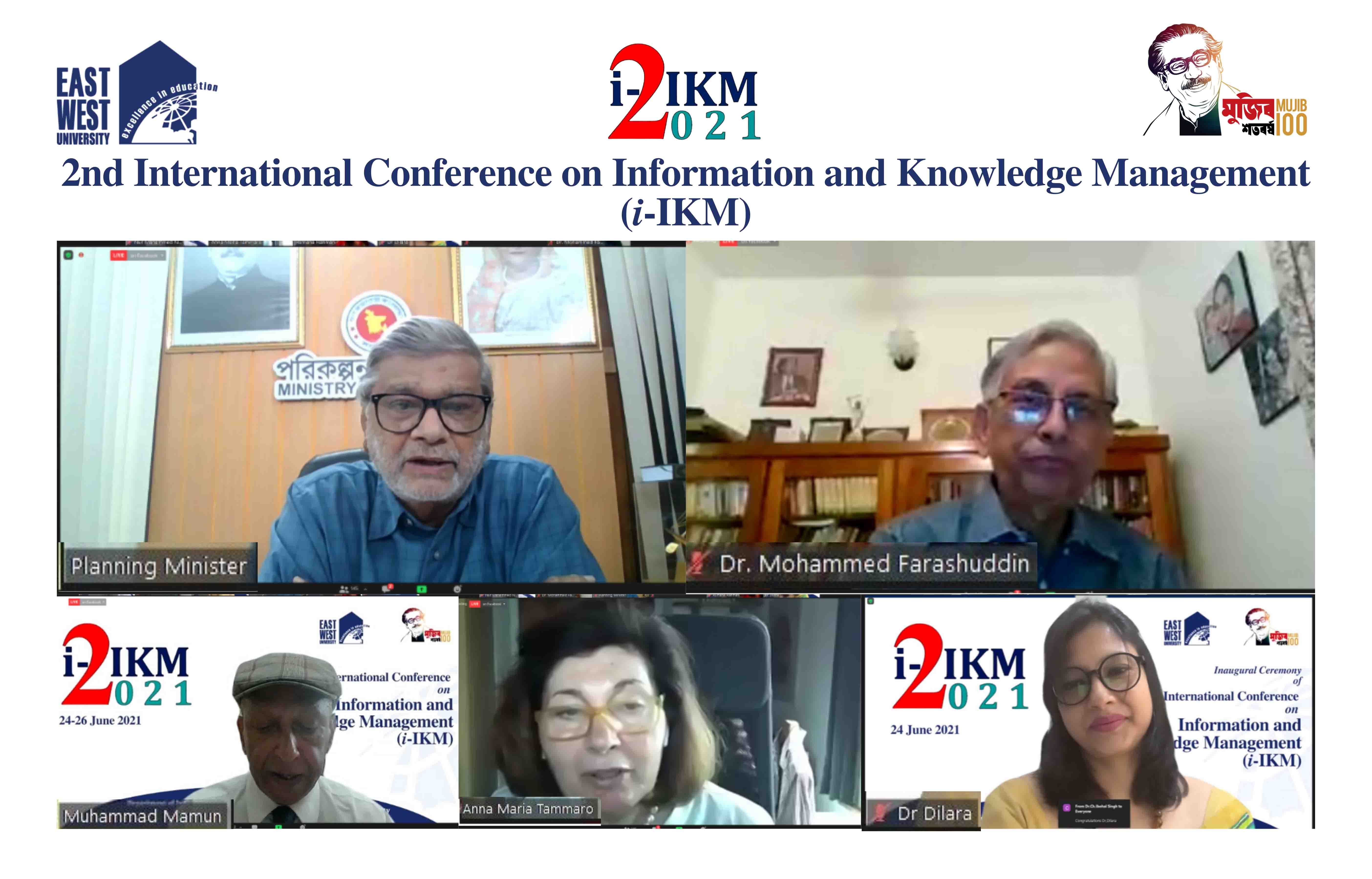 THE INAUGURAL CEREMONY OF THE 2ND INTERNATIONAL CONFERENCE ON INFORMATION AND KNOWLEDGE MANAGEMENT (...